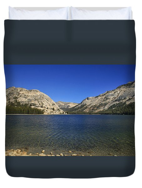 Lake Ellery Yosemite Duvet Cover by David Millenheft