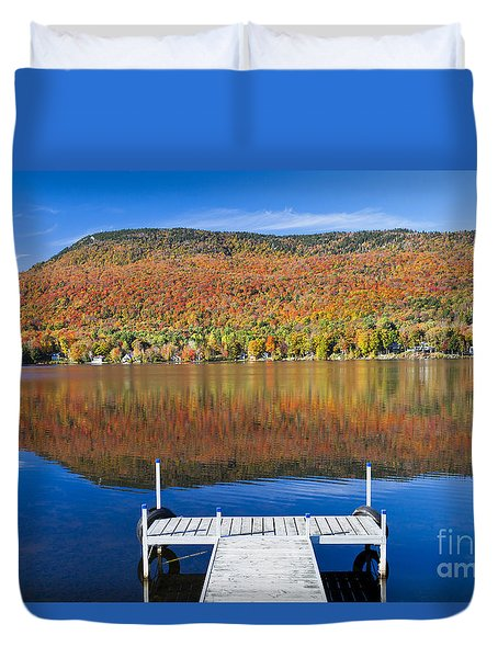 Lake Elmore Autumn Duvet Cover