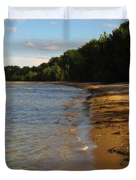 Lake Erie Shore 3 Duvet Cover