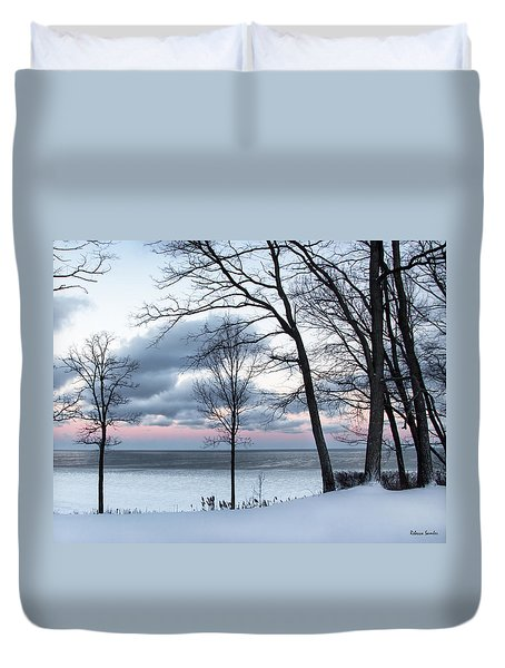 Lake Erie Sunrise Duvet Cover