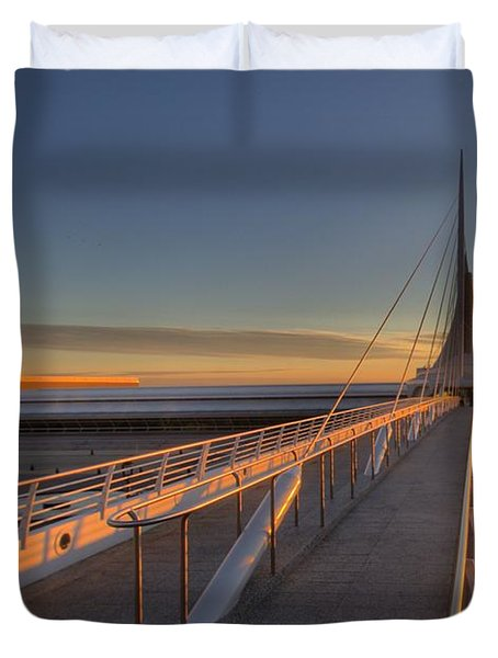 Lake Front View Duvet Cover