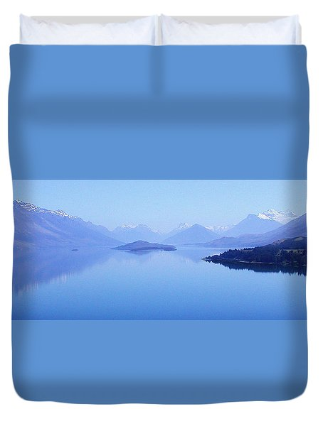 Lake Glenorchy New Zealand Duvet Cover by Ann Lauwers