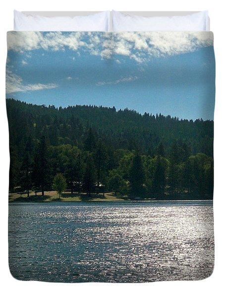 Scenic Lake Photography In Crestline California At Lake Gregory Duvet Cover