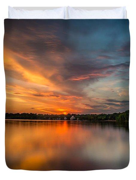 Lake Harriet Grand Finale Duvet Cover by Mark Goodman