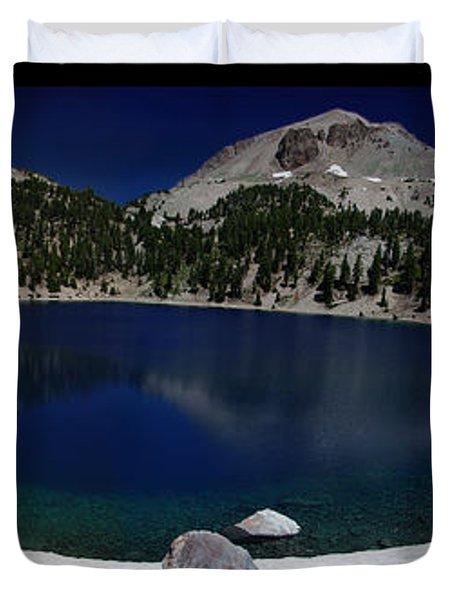 Lake Helen At Mt Lassen Triptych Duvet Cover by Peter Piatt