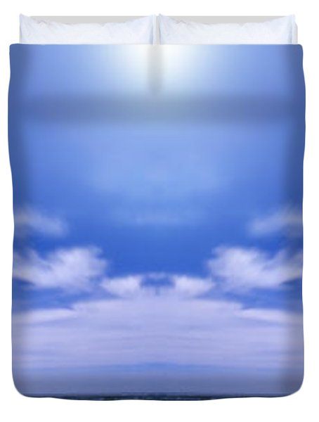 Lake Huron And Sky Duvet Cover by Vast Photography