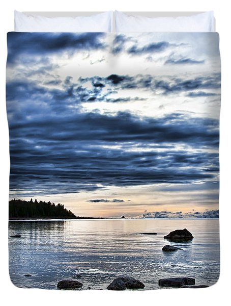 Lake Huron Blues Upper Michigan Duvet Cover
