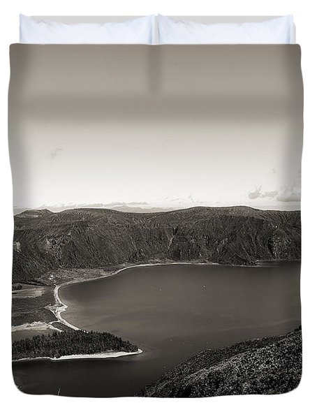 Lake In A Crater Duvet Cover