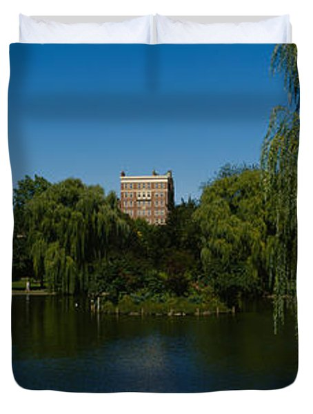 Lake In A Formal Garden, Boston Public Duvet Cover