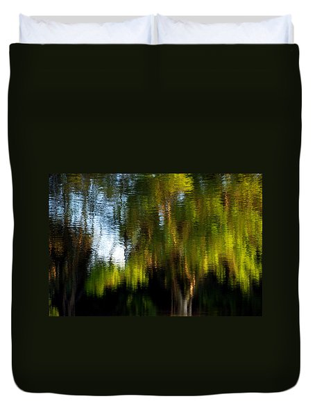 Lake In Green Duvet Cover
