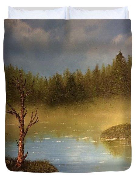 Lake In The Woods  Duvet Cover