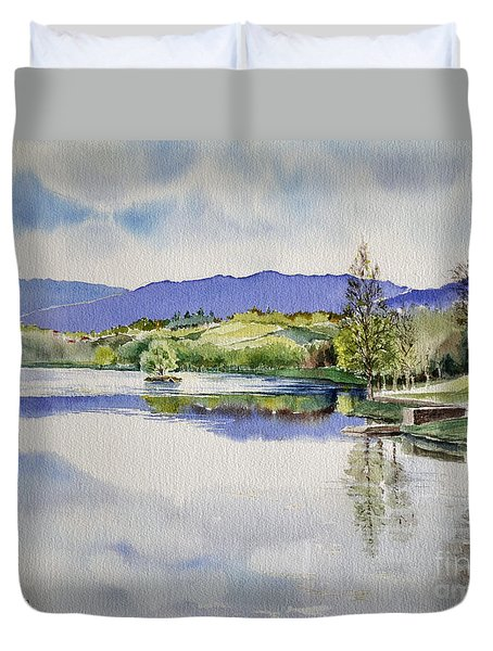 Lake In Tuscany Duvet Cover