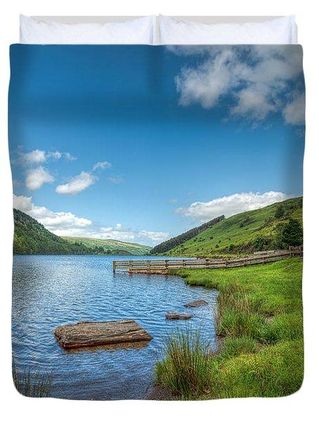 Lake In Wales Duvet Cover by Adrian Evans