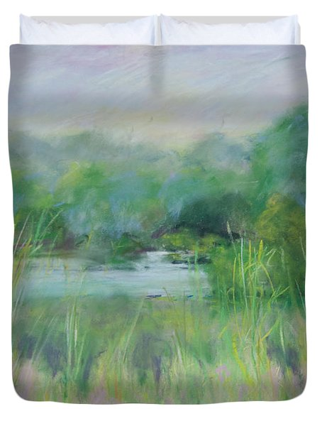 Lake Isaac Impressions Duvet Cover by Lee Beuther