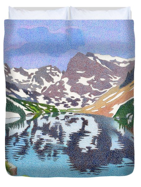 Lake Isabelle Colorado Duvet Cover