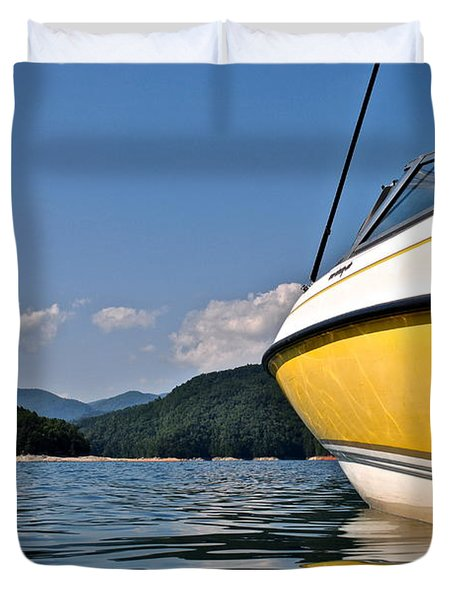 Lake Jocassee Duvet Cover by Frozen in Time Fine Art Photography