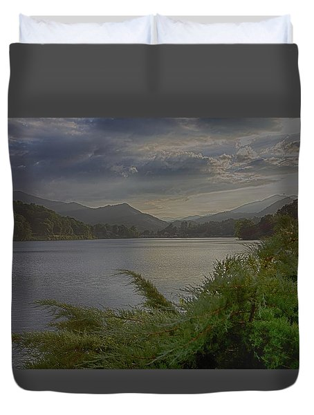 Duvet Cover featuring the photograph Lake Junaluska by Dennis Baswell