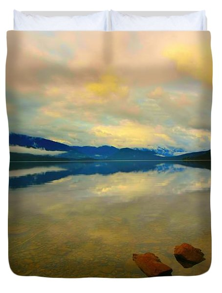 Duvet Cover featuring the photograph Lake Kaniere New Zealand by Amanda Stadther