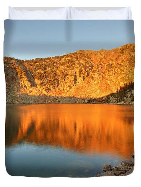 Lake Katherine Sunrise Duvet Cover by Alan Ley