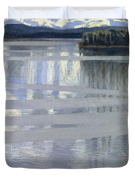 Lake Keitele Duvet Cover