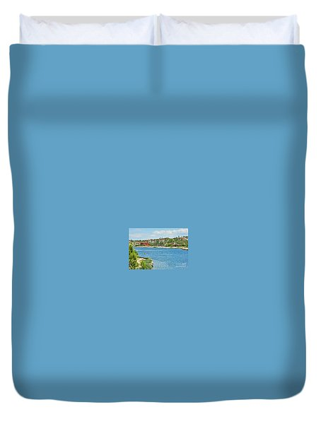 Duvet Cover featuring the photograph Lake Las Vegas In May by Emmy Marie Vickers