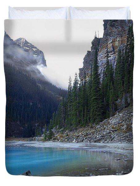 LAKE LOUISE NORTH SHORE - CANADA ROCKIES Duvet Cover by Daniel Hagerman