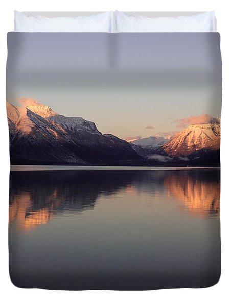 Lake Mcdonald Alpenglow Duvet Cover