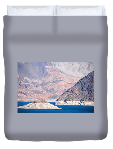 Duvet Cover featuring the photograph Lake Mead National Recreation Area by John Schneider