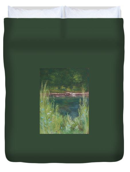 Lake Medina Duvet Cover by Lee Beuther