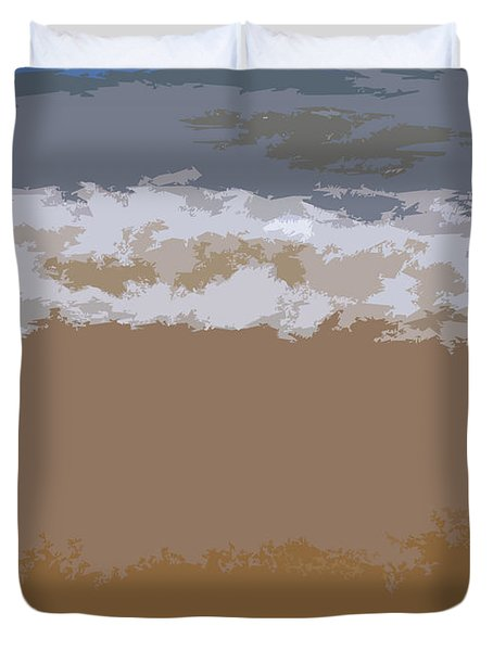 Lake Michigan Shoreline Duvet Cover