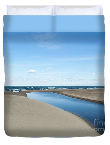 Lake Michigan Waterway  Duvet Cover