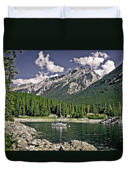 Lake Minnewanka Duvet Cover