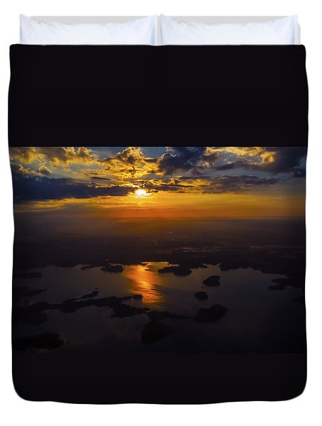 Lake Norman Sunrise Duvet Cover by Greg Reed