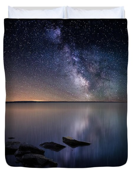 Lake Oahe Duvet Cover