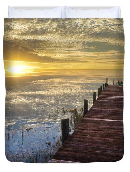 Lake Of Enchantment Duvet Cover by Debra and Dave Vanderlaan