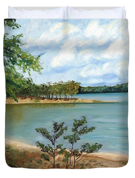 Lake Ouachita Duvet Cover by Helen Eaton