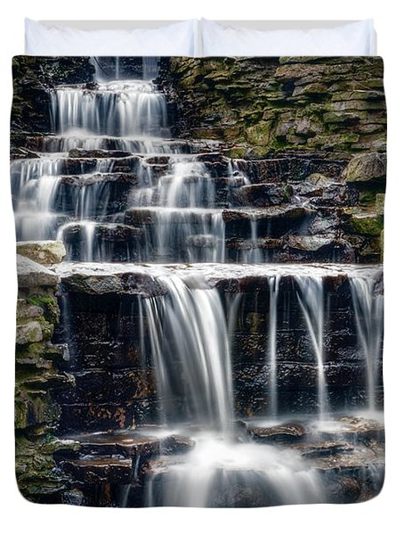 Lake Park Waterfall Duvet Cover