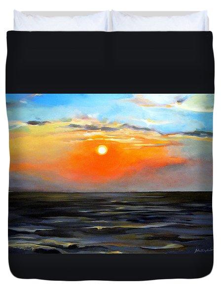 Lake Pontchartrain Sunset  Duvet Cover