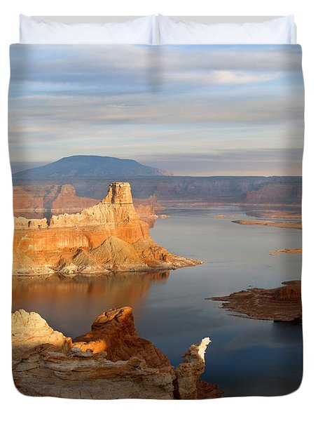 Lake Powell From Alstrum Pt 12 Duvet Cover