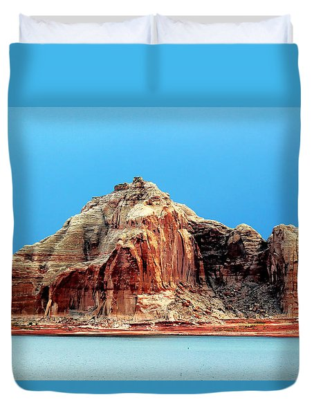 Duvet Cover featuring the photograph Lake Powell Utah by Tom Prendergast
