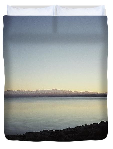 Lake Pukaki First Light Duvet Cover