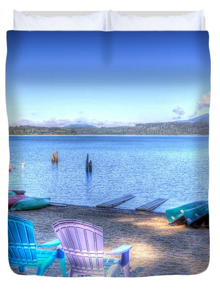 Lake Quinault Dream Duvet Cover by Heidi Smith