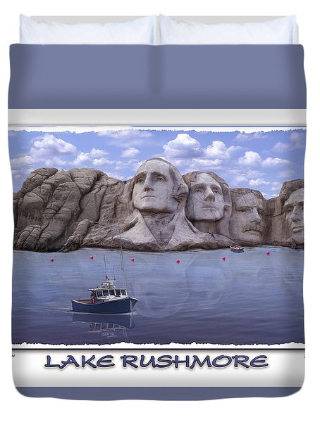 Lake Rushmore Duvet Cover by Mike McGlothlen