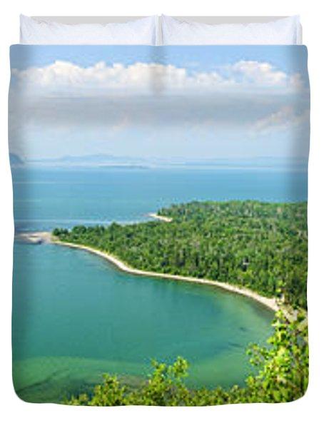 Lake Superior Panorama Duvet Cover by Elena Elisseeva