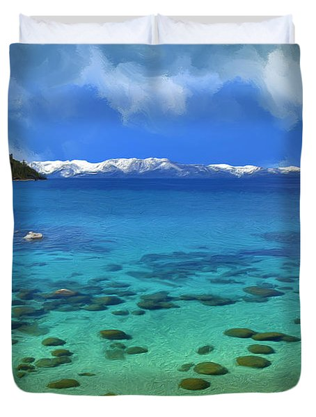 Lake Tahoe Cove Duvet Cover