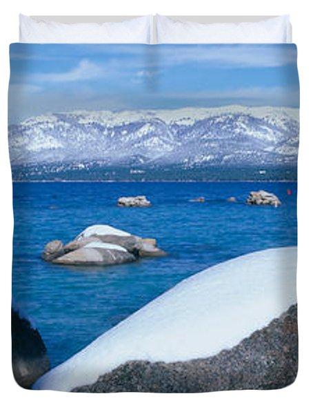 Lake Tahoe In Winter, California Duvet Cover