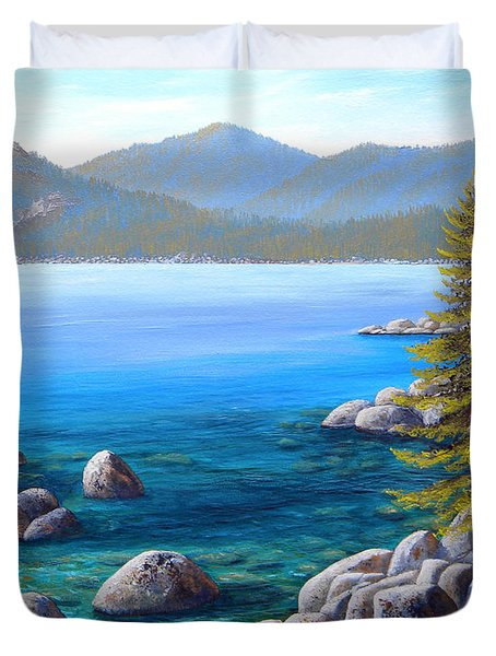 Lake Tahoe Inlet Duvet Cover