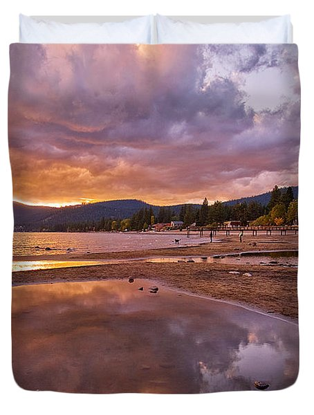 Duvet Cover featuring the photograph Lake Tahoe by Mae Wertz