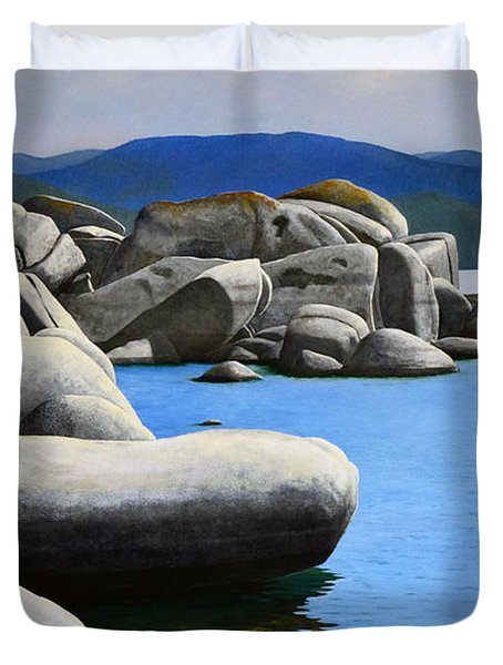 Lake Tahoe Rocky Cove Duvet Cover