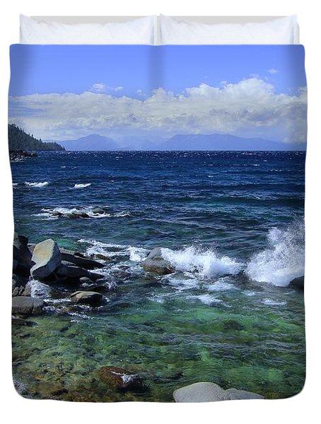 Lake Tahoe Wild  Duvet Cover